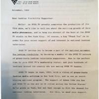 Dyke TV Membership Letter, 1994