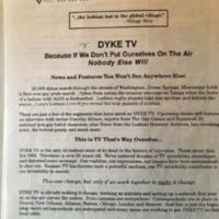 Dyke TV Fundraising Letter